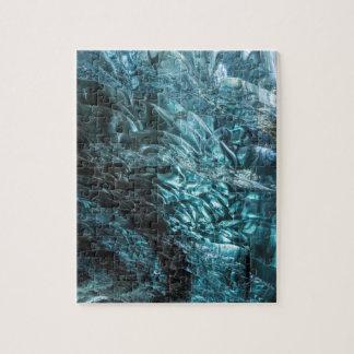 Puzzle Glace bleue d'une caverne de glace, Islande