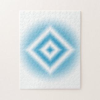 Puzzle gradient bleu de diamant de Personnaliser-ciel