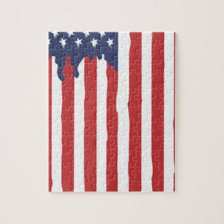 Puzzle Graffiti Etats-Unis de drapeau américain uni