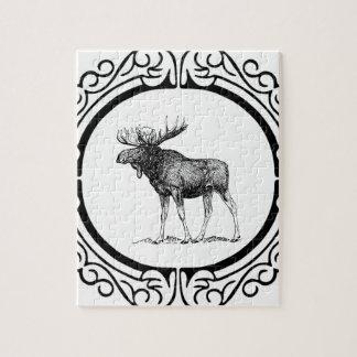 Puzzle grand art d'orignaux de taureau