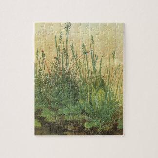 Puzzle Grand morceau de gazon par Albrecht Durer, art