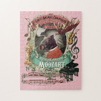 Puzzle Grande parodie animale de Mozart de compositeur de