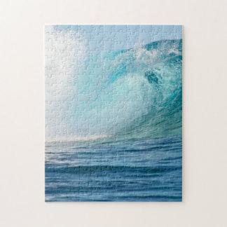 Puzzle Grande vague de l'océan pacifique cassant le