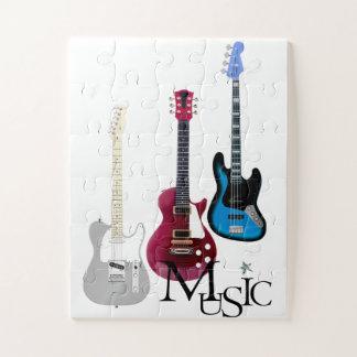 """Puzzle grandes pièces """"Guitares et Music"""""""