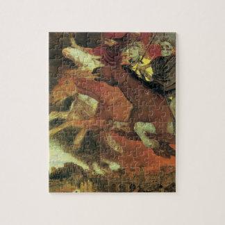 Puzzle Guerre par Arnold Bocklin, beaux-arts vintages de