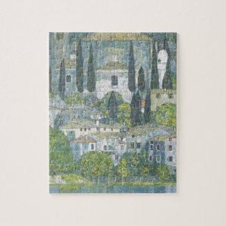Puzzle Gustav Klimt - église dans l'oeuvre d'art de