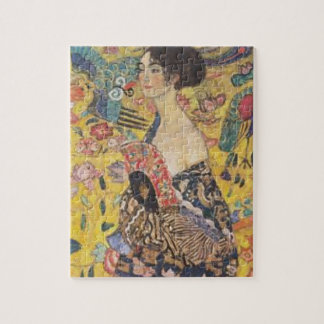 Puzzle Gustav Klimt - Madame With Fan Painting