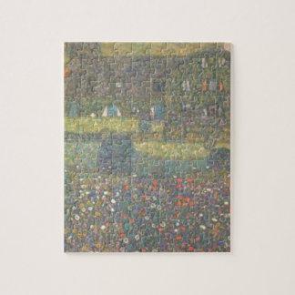 Puzzle Gustav Klimt - maison de campagne par l'art