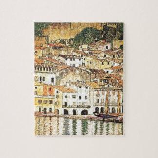 Puzzle Gustav Klimt - Malcesine sur le policier de lac
