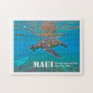 """Puzzle hawaïen de """"Honu"""" de tortue de mer verte"""