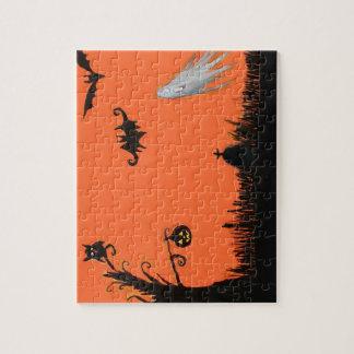 Puzzle heureux de fantôme d'arbre de Halloween