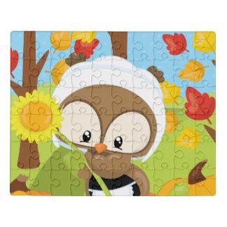 Puzzle Hibou de thanksgiving - 1