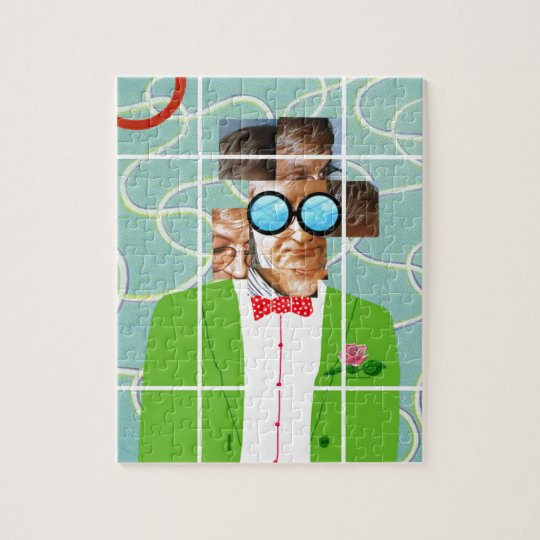 Puzzle Hockney portrait
