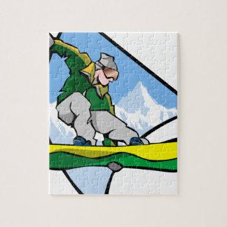 Puzzle Homme de snowboarding