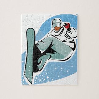 Puzzle Homme frais de snowboarding