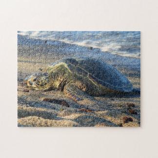 Puzzle Honu sur le sable chaud