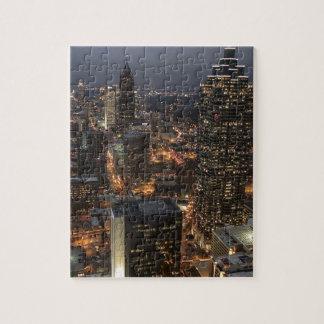 Puzzle Horizon de nuit d'Atlanta