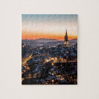 Puzzle Horizon de nuit de Berne Suisse