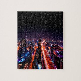 Puzzle Horizon de nuit de Dubaï