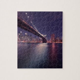Puzzle Horizon de nuit de pont de New York City Brooklyn