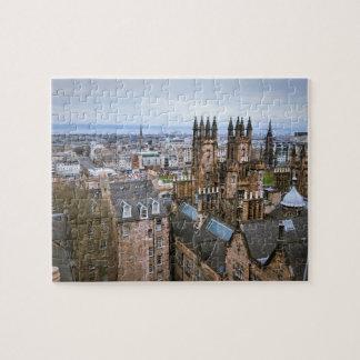 Puzzle Horizon d'Edimbourg à partir de dessus de toit,