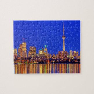 Puzzle Horizon du centre de Toronto la nuit