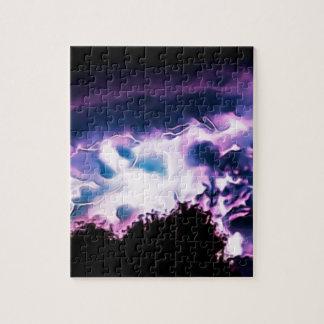 Puzzle Horizon pluvieux de pluie de temps de boulon