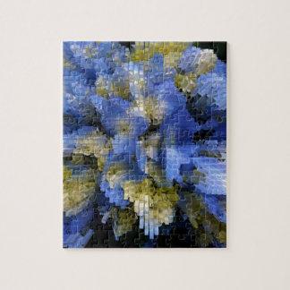 Puzzle Hortensia bleu