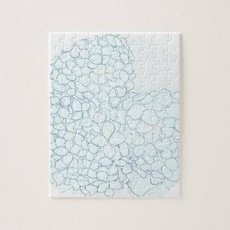 Puzzle Hortensia de bleus layette