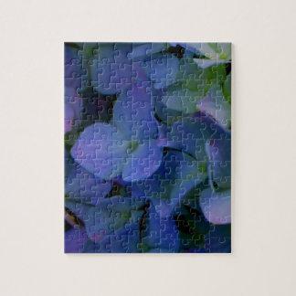 Puzzle Hortensias pourpres violets