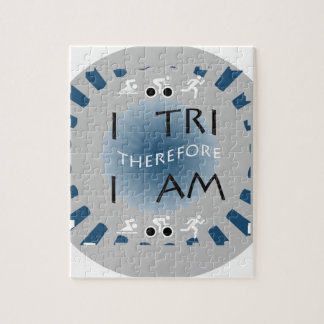 Puzzle I tri par conséquent je suis triathlon
