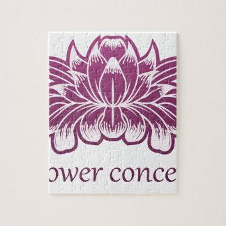Puzzle Icône de concept de construction florale de fleur