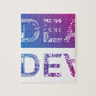 Puzzle IDÉE - typographique
