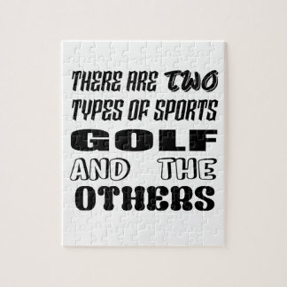 Puzzle Il y a deux types de sports jouent au golf et
