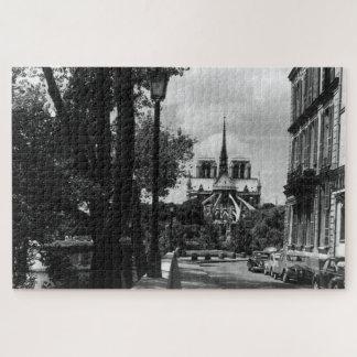 Puzzle Île vintage de la France Paris Notre Dame St Louis