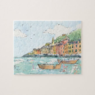 Puzzle Illustration de port de Porofino