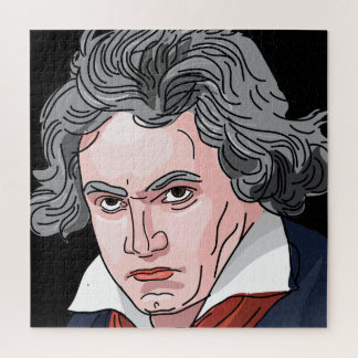 Puzzle Illustration de portrait de Beethoven