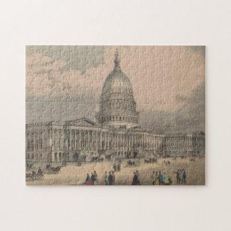 Puzzle Illustration vintage de bâtiment de capitol des