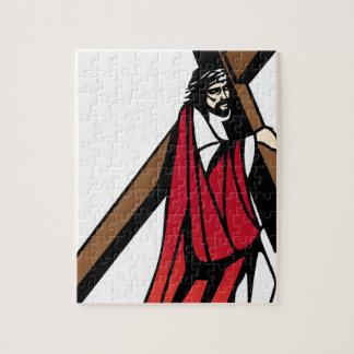 Puzzle Image Jésus de ministère portant sa croix