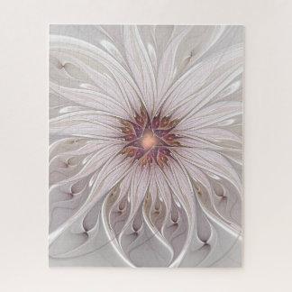 Puzzle Imaginaire floral, fleur en pastel moderne