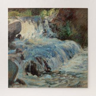 Puzzle Impressionisme vintage, la cascade par Twachtman