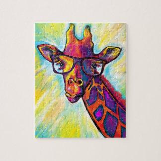 Puzzle impressionnant superbe de girafe