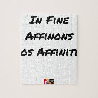 Puzzle IN FINE, AFFINONS NOS AFFINITÉS - Jeux de mots