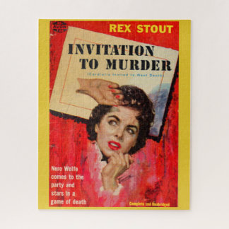 Puzzle invitation des années 1950 d'assassiner