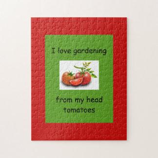 Puzzle J'aime faire du jardinage de mes tomates