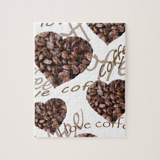 """Puzzle """"J'aime le café ! """""""