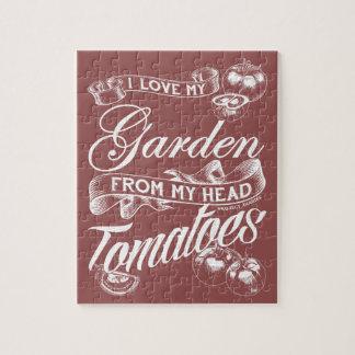 Puzzle J'aime mon jardin (le texte blanc)