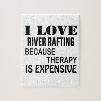 Puzzle J'aime transporter de rivière puisque la thérapie