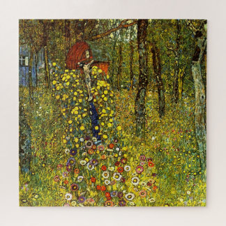 Puzzle Jardin de ferme avec le crucifix par Gustav Klimt