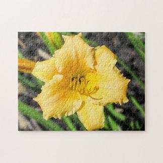 Puzzle jaune de lis
